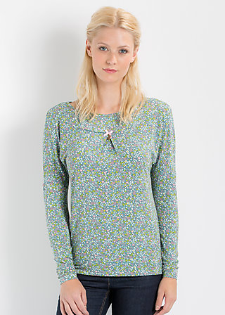 lovelyrics longsie, flower field, Shirts, Blau