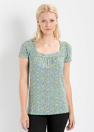 on the swings tee, flower field, Shirt, Blau
