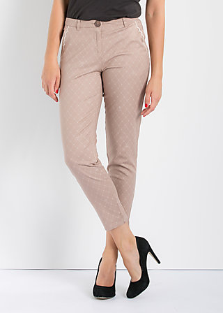 pantalon d'amour, step the line, Hosen, Braun
