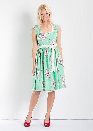 pompadour mon amour dress, frames of floral, Kleider, Grün
