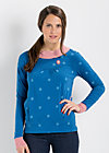 puderpuff pully, wheel of fortune, Pullover, Blau