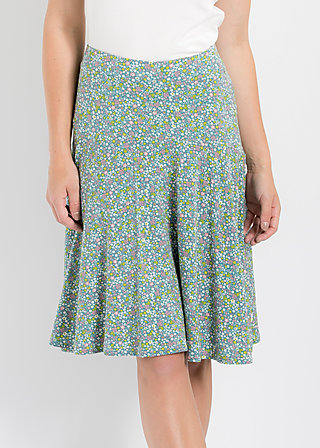 rosenreigen skirt, flower field, Rock, Blau