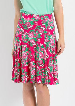 rosenreigen skirt, palace garden, Röcke, Rot