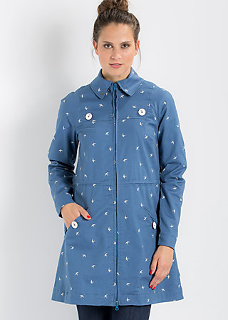 sommerbrise coat, swarm of swallow, Jacken, Blau