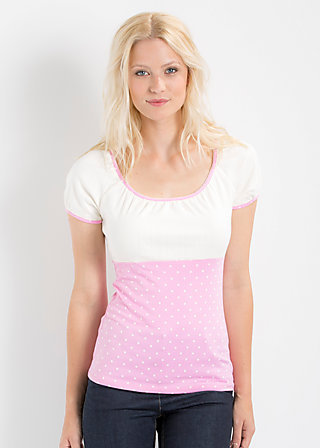 waschtisch romance top, powder blush, Shirts, Rosa