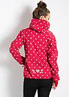 cosy rainstorm survival zip, raspberry dots, Jacken & Mäntel, Rot