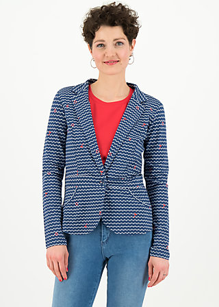 Blazer digital detox, over the ocean, Cardigans & leichte Jacken, Blau