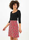 High Waisted Skirt frischluftjunkie, leaf love, Skirts, Pink