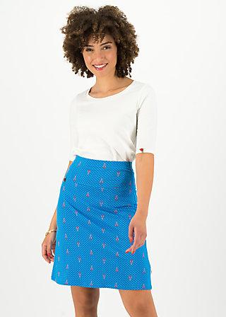 Taillenrock frischluftjunkie, blue tippi dots, Röcke, Blau