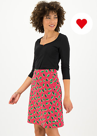 frischluftjunkie jupe, leaf love, Röcke, Rosa