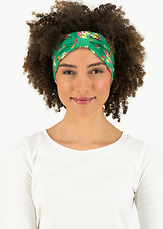 happy hair wrap, jungle flowers, Accessoires, Grün