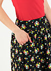 he loves me skirt , campsite flowers, Skirts, Black