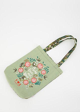 just wunberbar tote bag, veggieflage, Accessoires, Braun