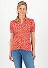 kiss me chic blousette, sea flower, Shirts, Rot