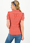 kiss me chic blousette, sea flower, Shirts, Red