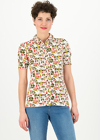 kiss me chic blousette, my garden, Shirts, White