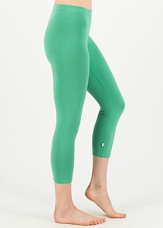 logo 3/4 leggings, simply green, Leggings, Grün