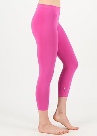 logo 3/4 leggings, simply pink, Leggings, Rosa