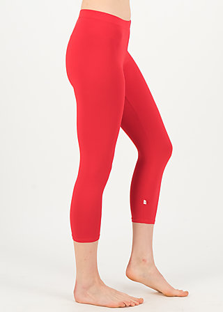 logo 3/4 leggings, simply red, Leggings, Rot