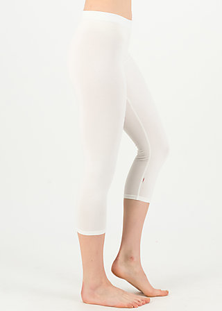 logo 3/4 leggings, simply white, Leggings, Weiß