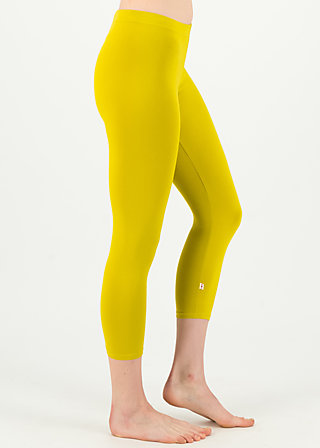 logo 3/4 leggings, simply yellow, Leggings, Yellow