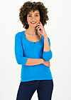 logo 3/4 sleeve shirt, simply blue, Shirts, Blau