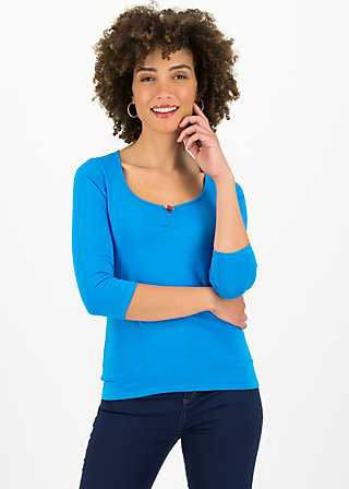 logo 3/4 sleeve shirt, simply blue, Shirts, Blau