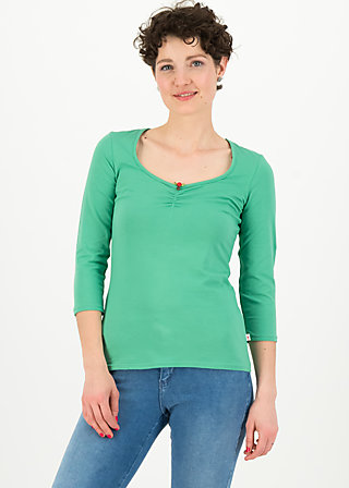 logo 3/4 sleeve shirt, simply green, Shirts, Grün