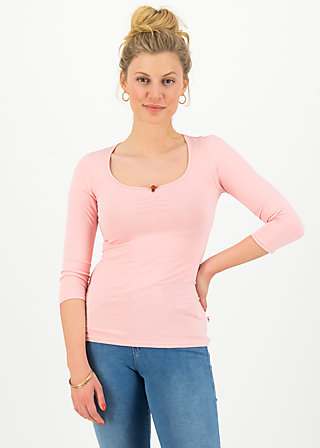 logo 3/4 sleeve shirt, simply peach, Shirts, Pink