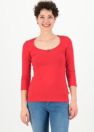 logo 3/4 sleeve shirt, simply red, Shirts, Red