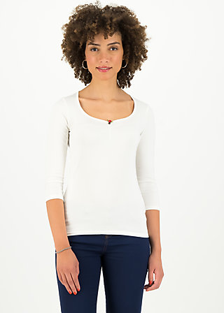 logo 3/4 sleeve shirt, simply white, Shirts, Weiß