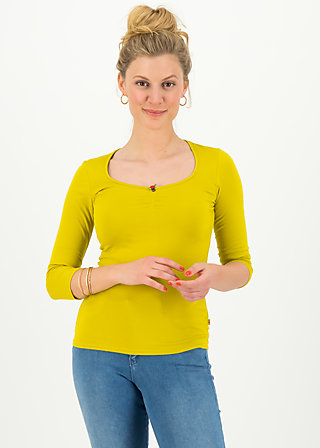 logo 3/4 sleeve shirt, simply yellow, Shirts, Gelb
