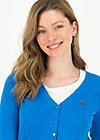 logo cardigan v-neck 3/4 arm, blue heart anchor , Pullover & leichte Jacken, Blau