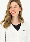 logo cardigan v-neck 3/4 arm, white heart anchor , Jumpers & lightweight Jackets, White