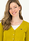 logo cardigan v-neck 3/4 arm, yellow heart anchor , Pullover & leichte Jacken, Gelb