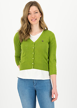 logo cardigan v-neck 3/4 arm, green heart anchor , Cardigans & leichte Jacken, Grün