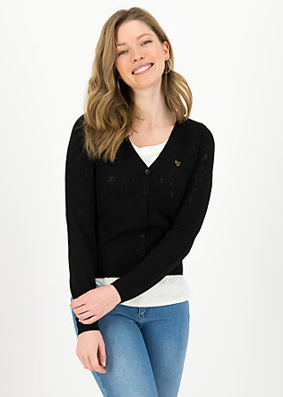 logo cardigan v-neck lang, black heart anchor , Jumpers & lightweight Jackets, Black