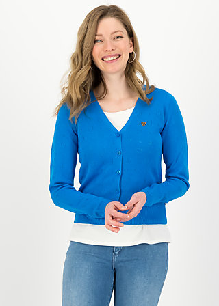 logo cardigan v-neck lang, blue heart anchor , Pullover & leichte Jacken, Blau