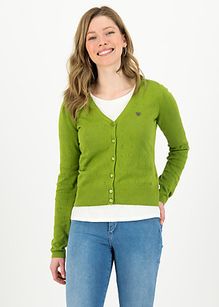 logo cardigan v-neck lang, green heart anchor , Pullover & leichte Jacken, Grün