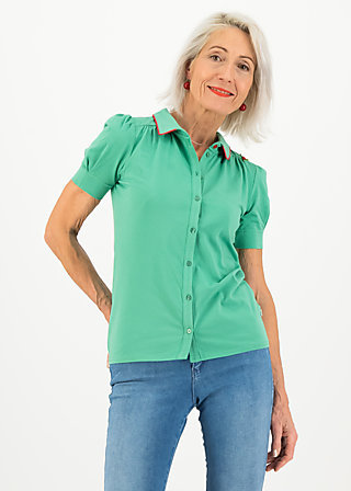 logo jersey blousette, simply green, Shirts, Green