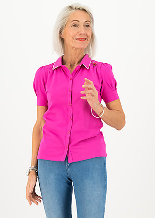 logo jersey blousette, simply pink, Shirts, Rosa