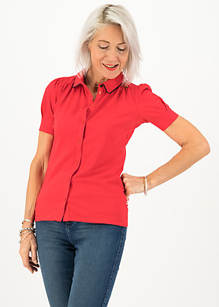 logo jersey blousette, simply red, Shirts, Rot