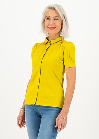 logo jersey blousette, simply yellow, Shirts, Gelb