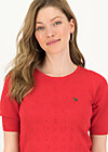 logo pully round neck 1/2arm, red heart anchor , Pullover & leichte Jacken, Rot