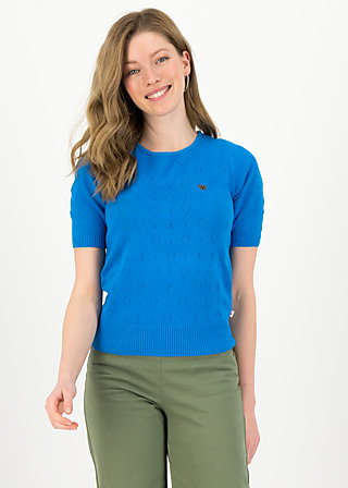 logo pully round neck 1/2arm, blue heart anchor , Pullover & leichte Jacken, Blau