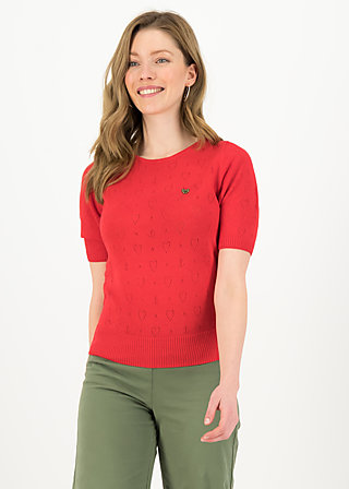 logo pully round neck 1/2arm, red heart anchor , Cardigans & leichte Jacken, Rot