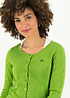 logo roundneck cardigan short, green heart anchor , Cardigans & leichte Jacken, Grün