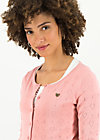 logo roundneck cardigan short, rose heart anchor , Cardigans & lightweight Jackets, Pink
