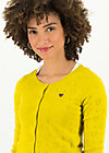 logo roundneck cardigan short, yellow heart anchor , Cardigans & leichte Jacken, Gelb