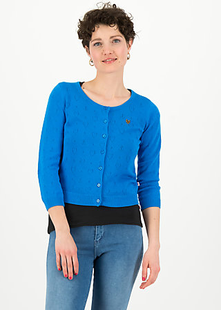 logo roundneck cardigan short, blue heart anchor , Jumpers & lightweight Jackets, Blue